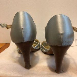 Coach Shoes - Coach size 7 Satin powder blue strappy heels
